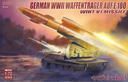Picture of German WWII E-100 panzer weapon carrier with V1 Missile launcher