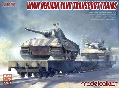 Picture of WWII German tank transport trains